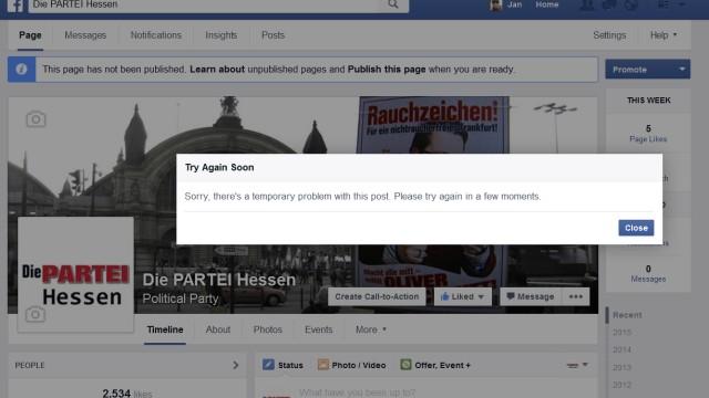 """""""Die Partei"""" Hessen Facebook"""