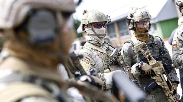 Mitglieder der Bundeswehr-Spezialeinheit KSK