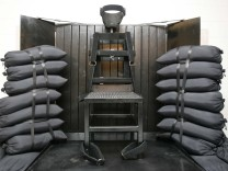 FILE - This June 18, 2010, file photo shows the firing squad execution chamber at the Utah State Prison in Draper, Utah. Utah's governor has signed a law that makes his state the only one to allow fir