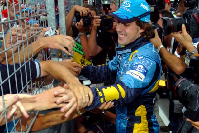 Formel 1 Hockenheim - Alonso und Fans