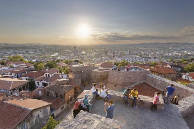 Turkey Ankara View of the city from Ankara citadel PUBLICATIONxINxGERxSUIxAUTxHUNxONLY SIE005917