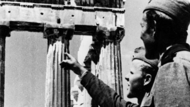 Deutsche Soldaten der Wehrmacht in Athen, 1941