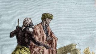 Ibn Battuta 1307 1377 en Egypte in Découverte de la terre par Jules Verne XIXème siècle AUFNAH