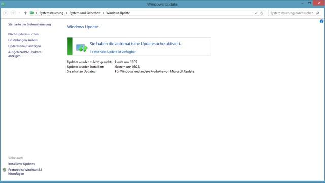 Screenshot Windows 8 Update
