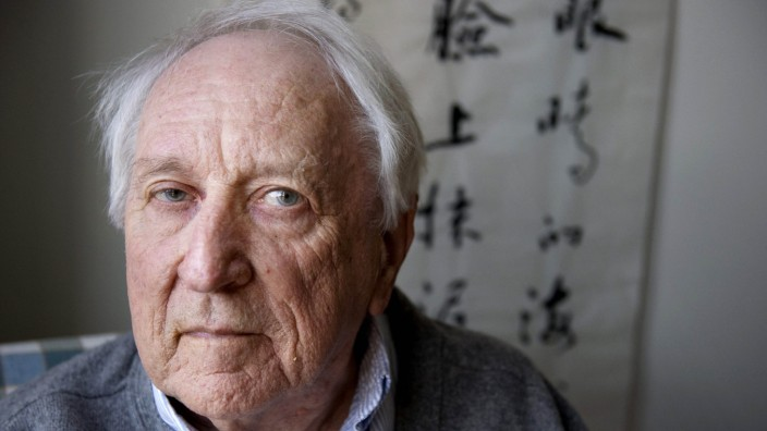 File photo of Swedish poet Tomas Transtroemer at his home in Stockholm