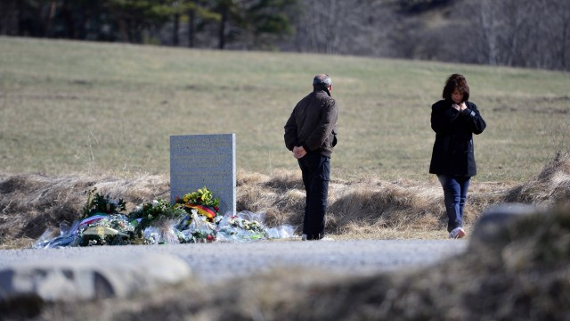 Local People Remember The Victims of Germanwings Airbus Flight Near To The Crash Site