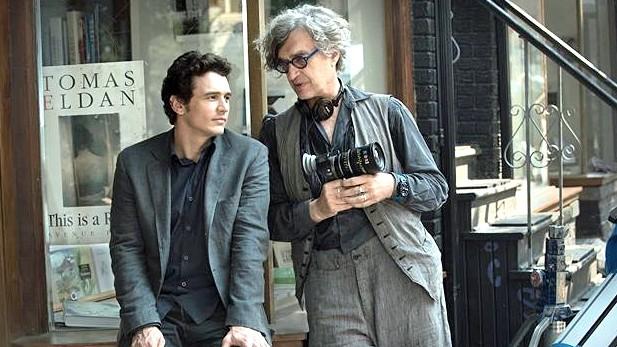 """James Franco (links) und Wim Wenders am Set von """"Every Thing Will Be Fine""""."""