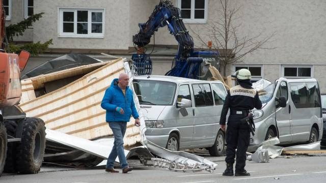 Sturmschäden in Weilheim