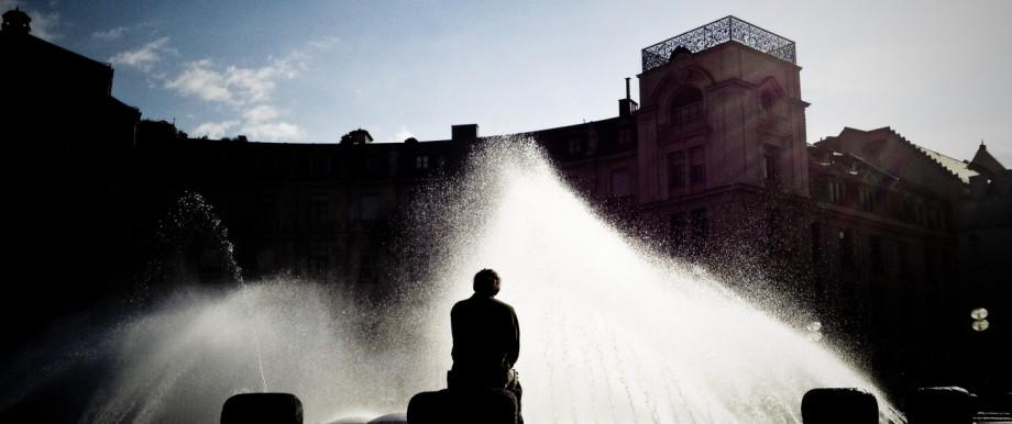 Morgens am Karlsplatz