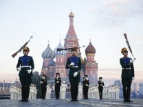 Participants perform during the International Military Music Festival 'Spasskaya Tower' in Moscow