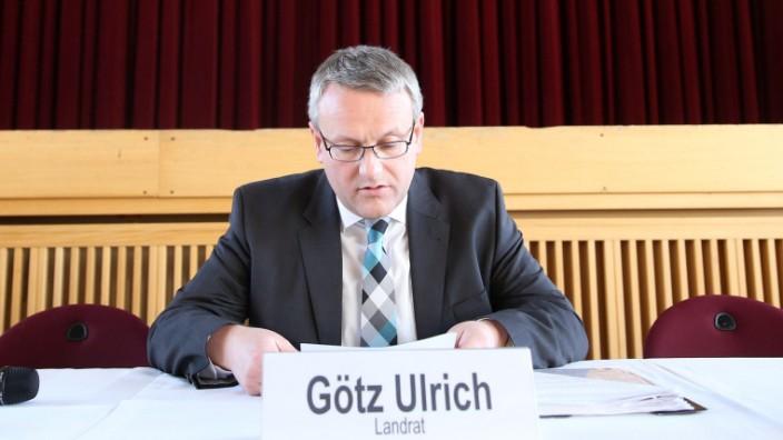 Tröglitz - Landrat Götz Ulrich