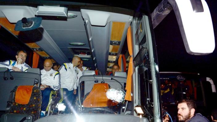 Fenerbahce's team bus shot by gunman