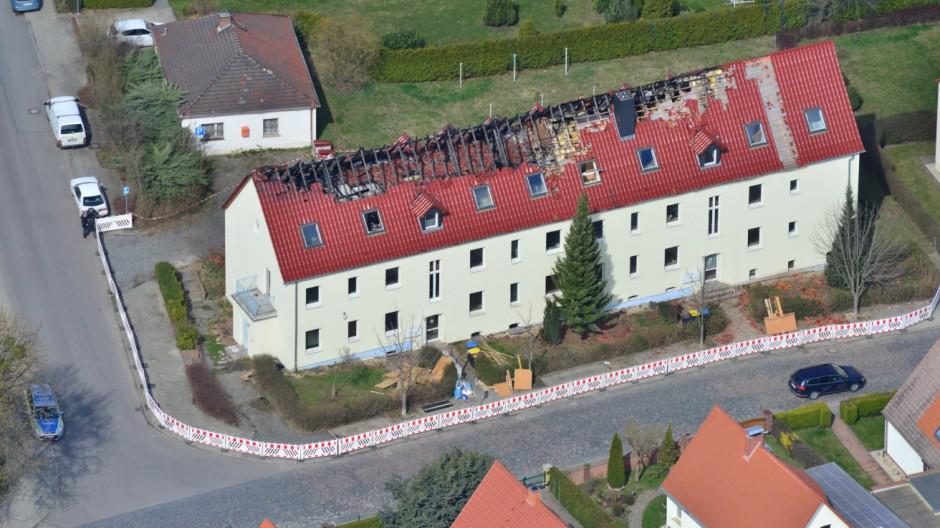 Brand in geplanter Asylbewerberunterkunft