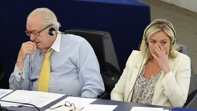 Jean-Marie und Marine Le Pen