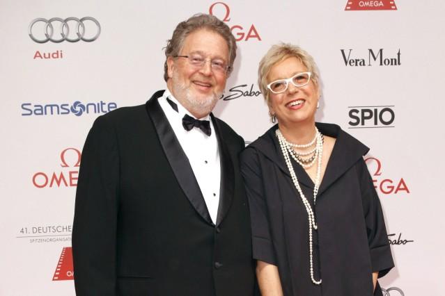Martin Moszkowicz und Doris Dörrie beim 41 Deutschen Filmball 2014 im Hotel Bayerischer Hof Muench