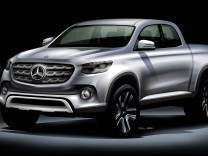 Eine Skizze des Mercedes Pick-up