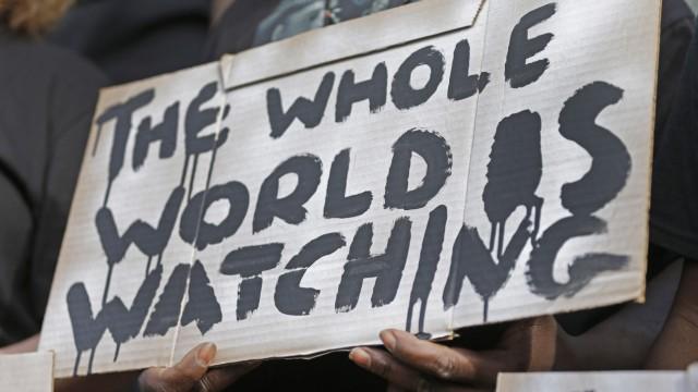 Walter Scott protest sign