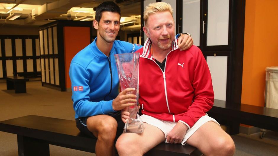 Novak Djokovic und Boris Becker