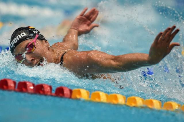 Alexandra WENK SG Stadtwerke Muenchen 2 Wettkampftag 50m Schmetterling Vorlauf der Frauen am 10 0