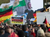 Pegida in Dresden - Kundgebung