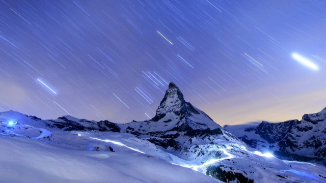 Matterhorn in Zermatt in der Schweiz