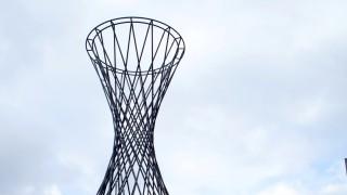 Skulptur Mae West in München, 2014