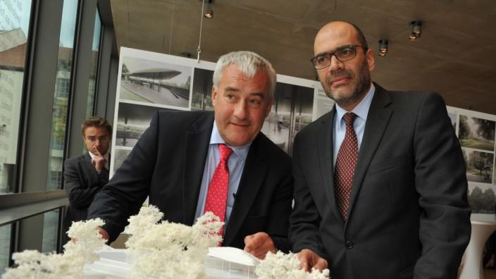 Dan Shaham und Ludwig Spaenle im Jüdischen Museum in München, 2014