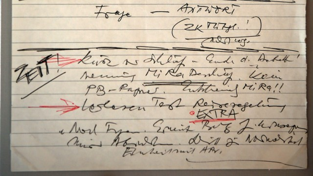 Schabowski-Zettel im Haus der Geschichte