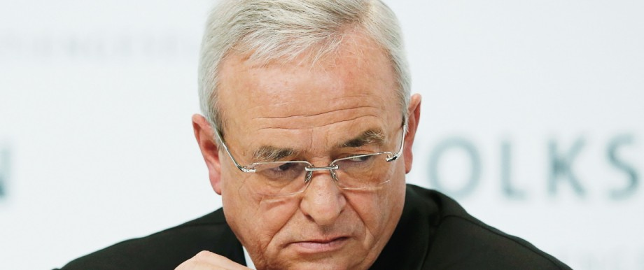 Volkswagen Chief Executive Winterkorn attends the annual news conference of Volkswagen in Berlin
