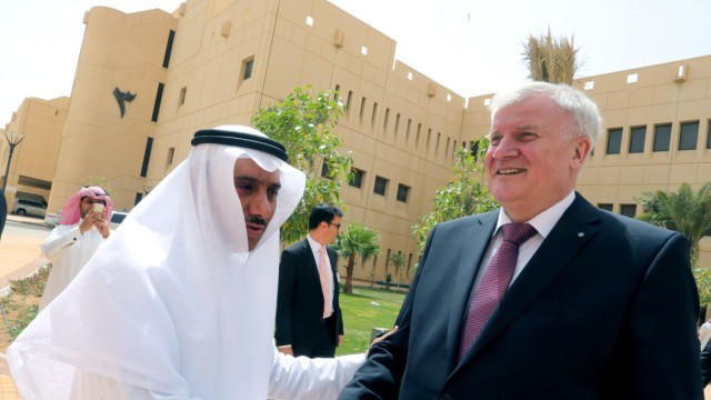 Seehofer in Saudi Arabien