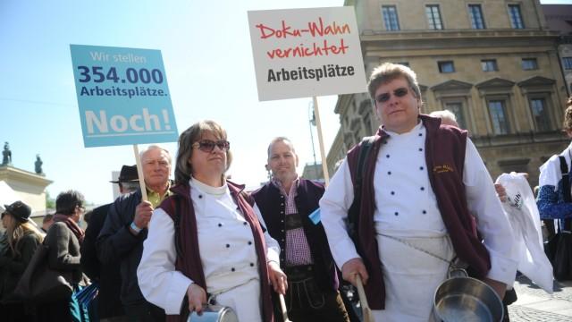 München Protest der Gastro-Branche
