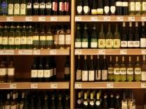 Supermarkt - Weinregal