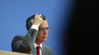 German Interior Minister Thomas de Maiziere presents 2013 Federal Report on Organised Crime in Berlin