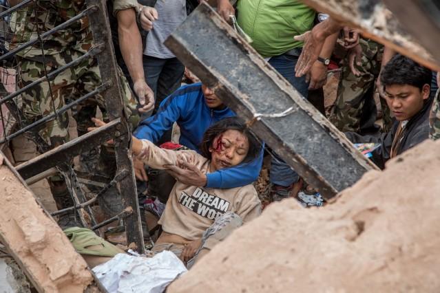 *** BESTPIX *** Kathmandu Struck By Powerful Earthquake