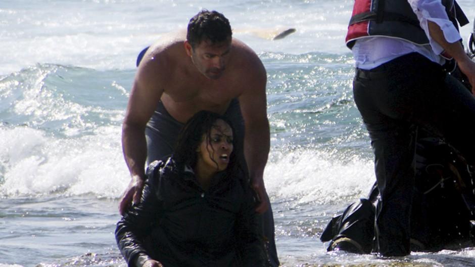 Rettung von Bootsflüchtlingen auf Rhodos