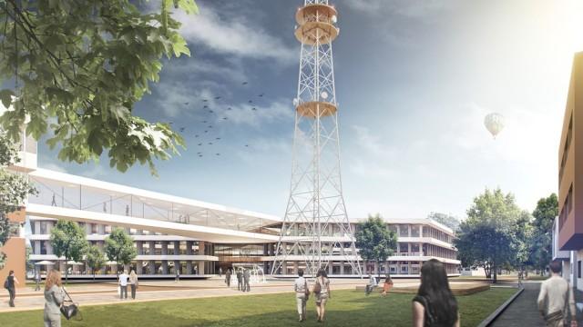 Bayerischer Rundfunk - Entwurf für Neubau in Freimann
