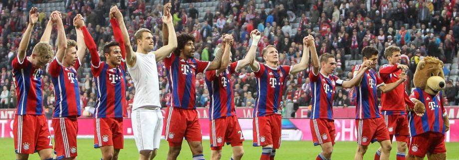 Samstag 25 04 2015 1 Bundesliga Saison 2014 2015 30 Spieltag in Muenchen FC Bayern Muenchen