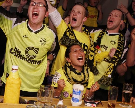 Borussia Dortmund Fans beim Public Viewing des Champions League Finales in München, 2013