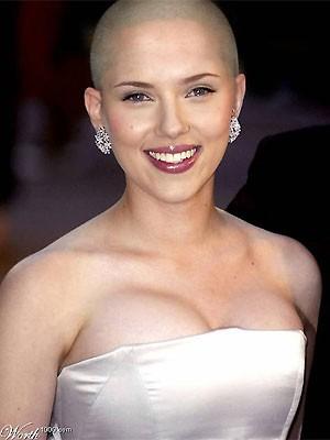 Bildstrecke Scarlett Johansson Sieht Mit Glatze Gesellschaft