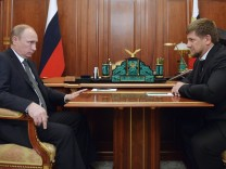 Russia's President Putin meets with Chechnya's leader Kadyrov at the Kremlin in Moscow
