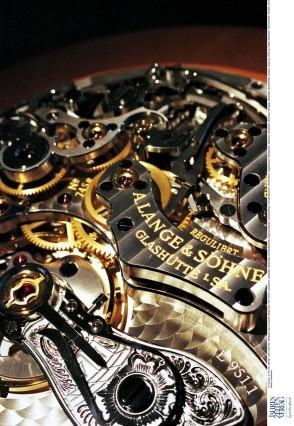 Gehäuse einer Luxusuhr: Räderwerk