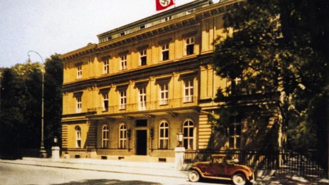 Braunes Haus nsdap parteizentrale postkartenmotiv der münchen
