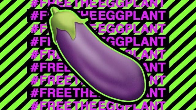Emoticon Aubergine, eggplant