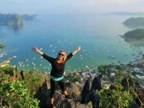 Klippenklettern in El Nido, Philippinen