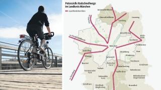 Süddeutsche Zeitung Landkreis München Radwege in die Stadt