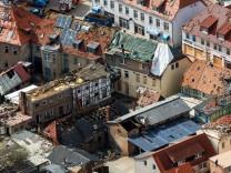 Bild der Verwüstung in der Kleinstadt Bützow