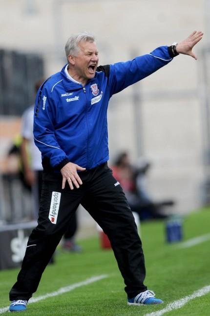 26 04 2015 xfux Fussball 2 Bundesliga FSV Frankfurt VfR Aalen v l Trainer Benno Moehlmann FS