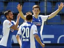 VfL Bochum's Gregoritsch celebrates a penalty against FC Ingolstadt during the German second division Bundesliga soccer match in Bochum