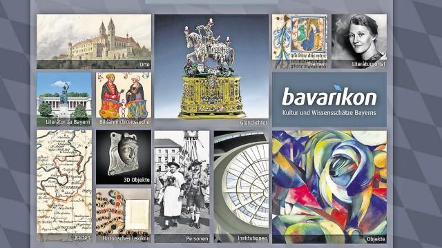 """Bayerische Staatsbibliothek Kulturportal """"Bavarikon"""""""