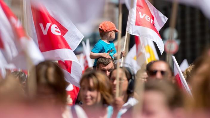 Kita-Streik in Bayern